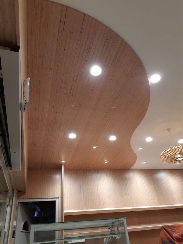 Habillage de plafond boulangerie